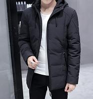 Зимняя мужская куртка с капюшоном. Модель 6181