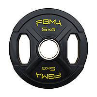 """Диск (блин) для штанги обрезиненный FGMA """"X"""" 5kg, фото 1"""