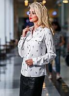 Оригинальная офисная блуза - принт скрипичные ключики, фото 1