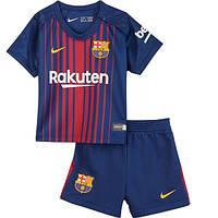 Детская футбольная форма Барселоны, сезон 2017/2018 (домашняя)