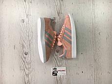 Женские кроссовки Adidas Gazelle Pink/Grey BA7656, Адидас Газели, фото 2