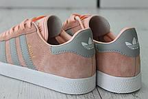 Женские кроссовки Adidas Gazelle Pink/Grey BA7656, Адидас Газели, фото 3