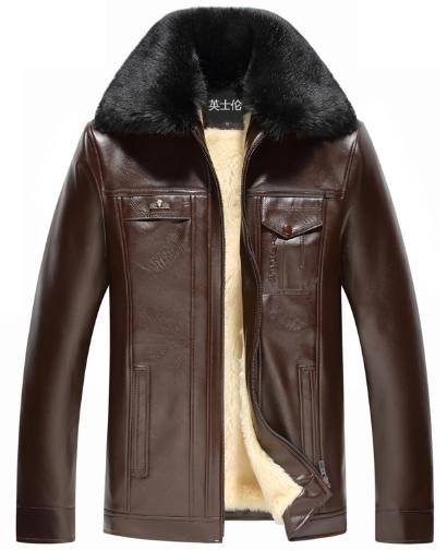 771e50944e9d7 Мужская зимняя кожаная куртка. Модель 6182 - купить Украина ...