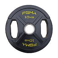 """Диск (блин) для штанги обрезиненный FGMA """"X"""" 10kg"""
