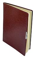 Еженедельник А4 датированный 2018 Buromax Salerno, коричневый (кремовый блок) BM.2781-25