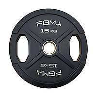 """Диск (млинець) для штанги прогумований FGMA """"X"""" 15kg, фото 1"""