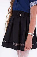 Модная черная женская юбка с бантиком тренд 2017