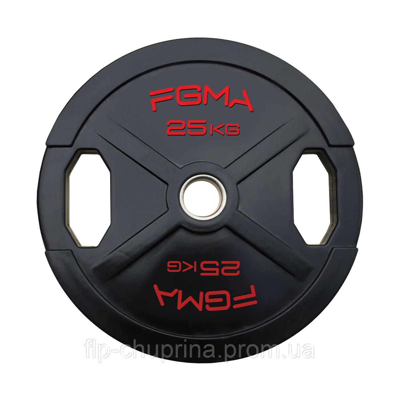 """Диск (блин) для штанги обрезиненный FGMA """"X"""" 25kg"""