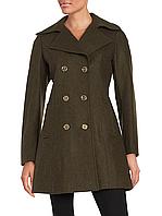 Оливковое шерстяное пальто Michael Kors