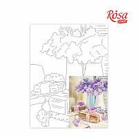 Полотно на картоні з контуром «Натюрморт №23», 30*40, бавовна, акрил, ROSA START