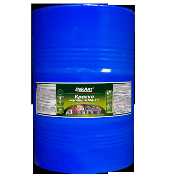 Краска масляная DekArt МА-15, вишневая 60 кг
