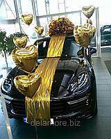 Бант на машину из полисилка с шарами