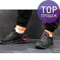Мужские кроссовки MERRELL, натуральная кожа, черные / кроссовки мужские МЕРРЕЛЛ, стильные