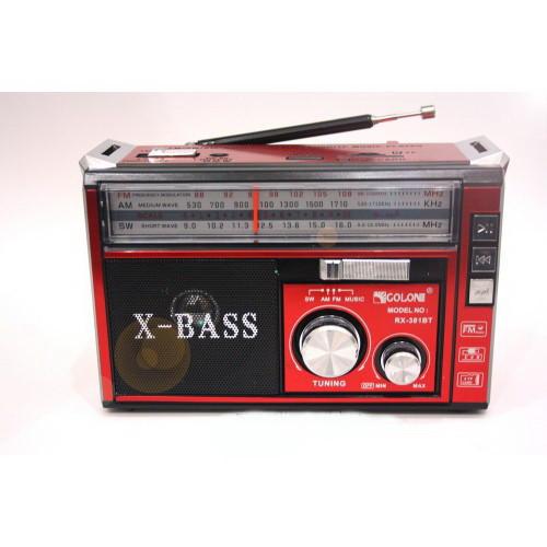 Радио RX 381 c led фонариком,Радиоприемник GOLON
