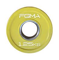 Диск (блин) для штанги обрезиненный Revolver Color FGMA  1.25kg