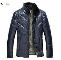 Зимняя куртка из натуральной кожи мужская. Модель 6258.