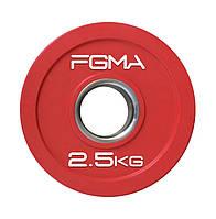 Диск (блин) для штанги обрезиненный Revolver Color FGMA  2.5kg
