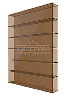 Сотовый поликарбонат 8мм TM SOLIDPROF бронзовый