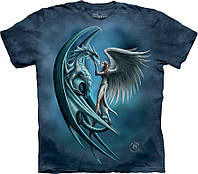 3D футболка The Mountain - Angel And Dragon