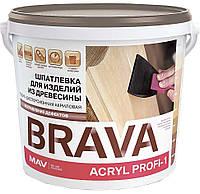 Шпатлевка BRAVA ACRYL PROFI-1 для изделий из древесины (ПРОФИ-1)