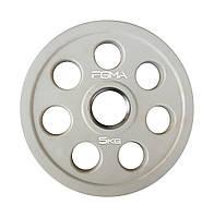 Диск (блин) для штанги обрезиненный Revolver Color FGMA  5kg