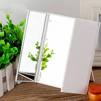 LED Зеркало для макияжа на подставке в виде книжечки (Белое)