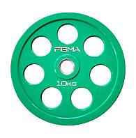 Диск (блин) для штанги обрезиненный Revolver Color FGMA  10kg