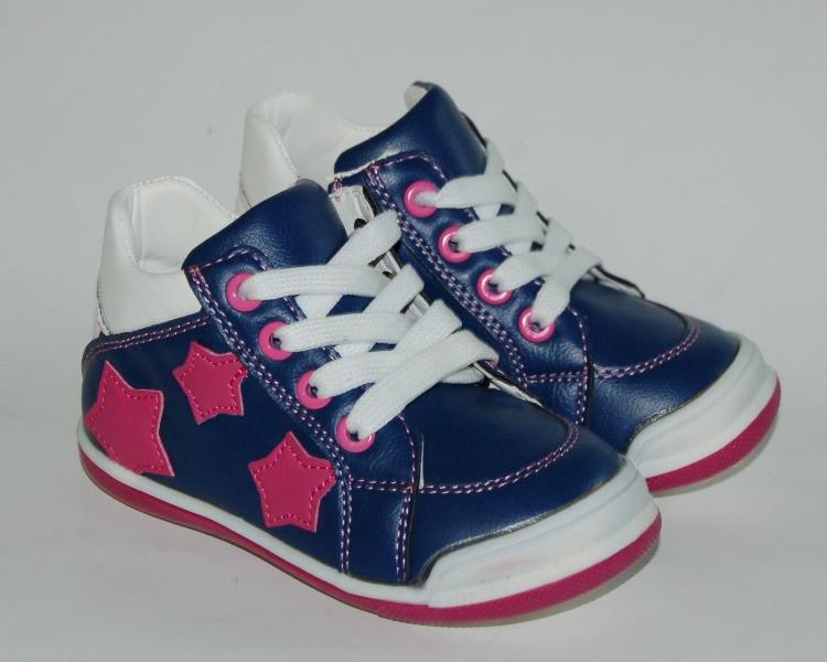 Обувь для девочек, детские ботики синие Солнце