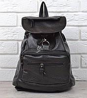 Рюкзак женский черный кэжуал Stylish satchel эко-кожа, Черный