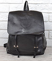 Рюкзак женский черный кэжуал Queen's backpack эко-кожа, Черный
