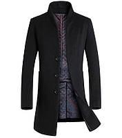 Мужское шерстяное весеннее пальто. Модель 6333, фото 3