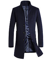 Мужское шерстяное весеннее пальто. Модель 6333, фото 4