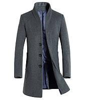 Мужское шерстяное весеннее пальто. Модель 6333, фото 6