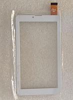 Оригинальный тачскрин / сенсор (сенсорное стекло) для Ergo Tab Link 3G (белый цвет, самоклейка)