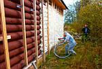 Особенности наружного утепления деревянного дома (интересные статьи)