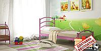Кровать металлическая кованная Маргарита односпальная, фото 1