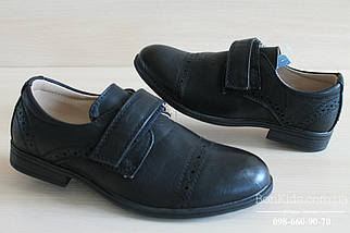 Туфли черные на мальчика детская школьная обувь Том.м р. 31,35,36, фото 3