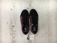 Женские кеды Vans Old Skool Pro Port Royale Black/Red, Ванс Олд Скул, фото 3