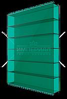 Сотовый поликарбонат 8мм TM SOTON зеленый