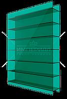 Сотовый поликарбонат 10мм TM SOTON зеленый