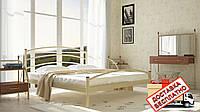 Кровать металлическая кованная Маргарита двуспальная, фото 1