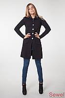 Женское вязаное пальто (длинная кофта)