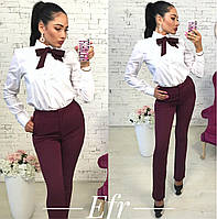 Стильные женские брюки с галстуком в комплекте