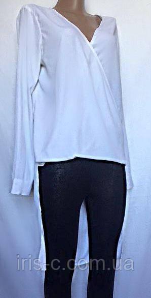 """Женская блуза с """"хвостом"""", из белого шелка размер S/M"""