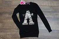 Вязанная туника- платье с паетками 4- 14 лет