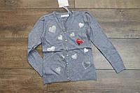 Вязанный кардиган для девочек 4- 10 лет