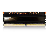 Память 4Gb DDR4, 2400 MHz, Avexir Core Original, 16-16-16-36, 1.2V, с радиатором, Orange LED подсветка (AVD4UZ124001604G-1COO)