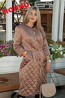 Пальто стеганое женское стильное модное хлопковый атлас разные цвета Gm116