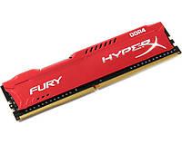 Память 8Gb DDR4, 2133 MHz, Kingston HyperX Fury Red, 14-14-14, 1.2V, с радиатором (HX421C14FR2/8)
