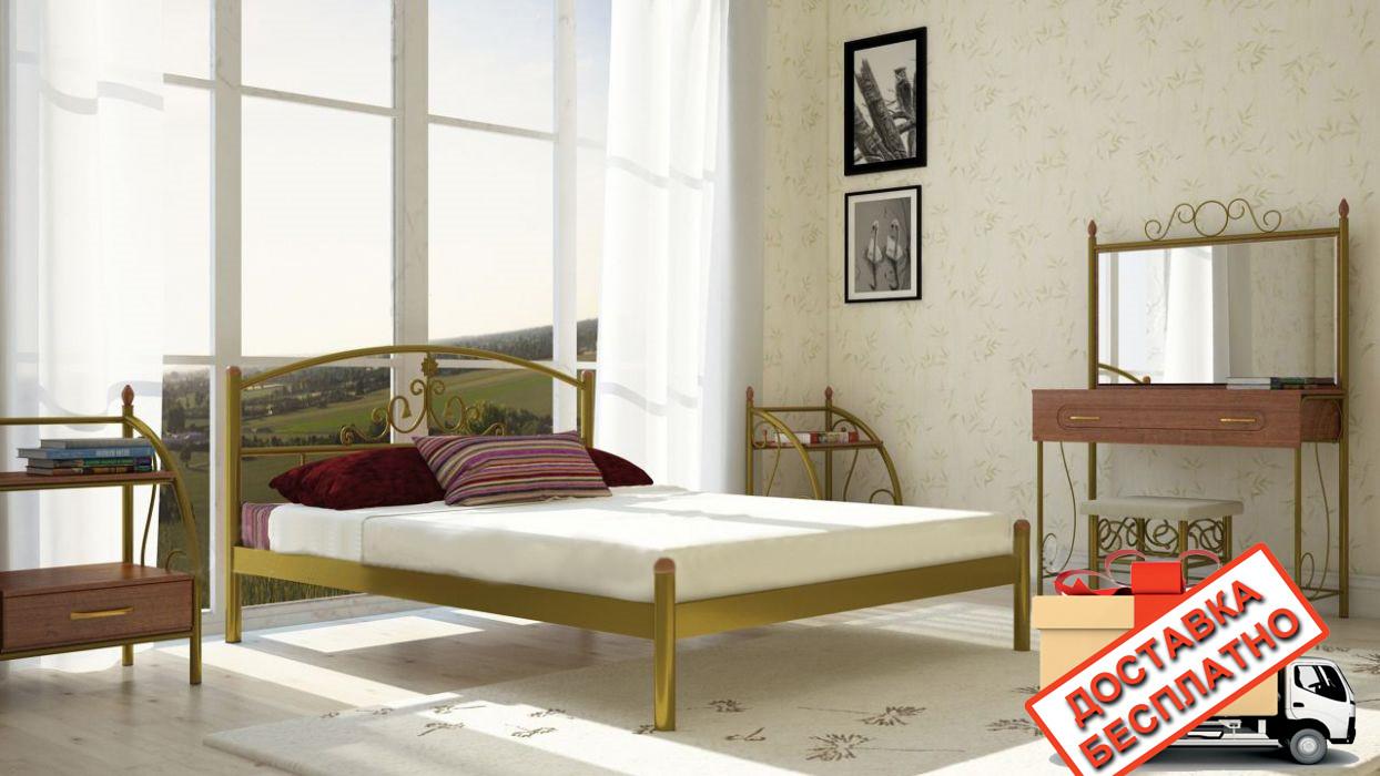 Кровать металлическая кованная Кассандра двуспальная, фото 1